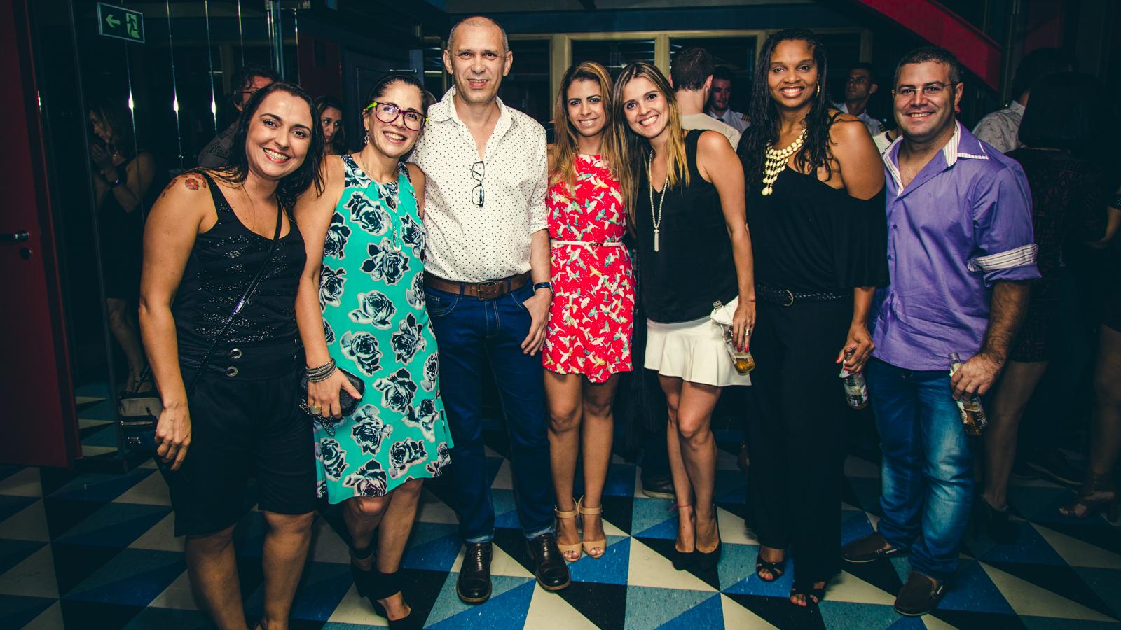 Flavia Marangoni, Isabel Borba, Aloísio Farias, Rejane Thomáz, Carol Wehba, Paula Vanessa e Alexandre Costa