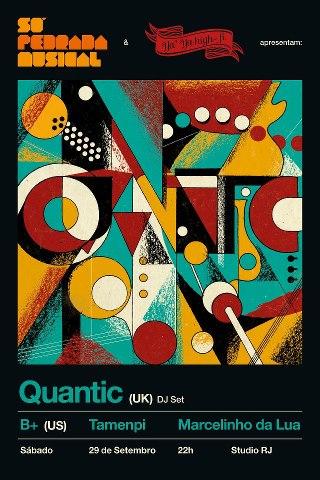 Flyer de Quantic no Rio