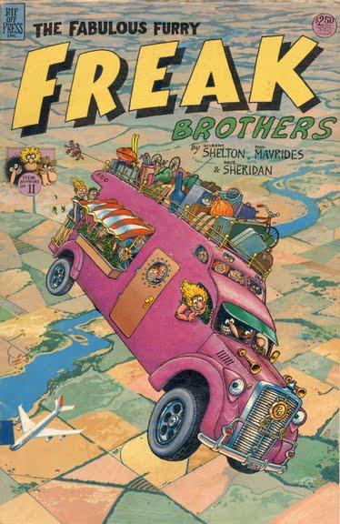 Capa da revista Fabulous Furry Freak Brothers