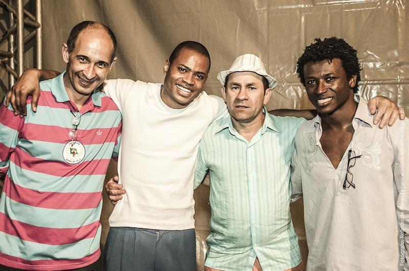 Fundadores do Samba da Vela: Paquera, Maurílio, Chapinha e Magnu