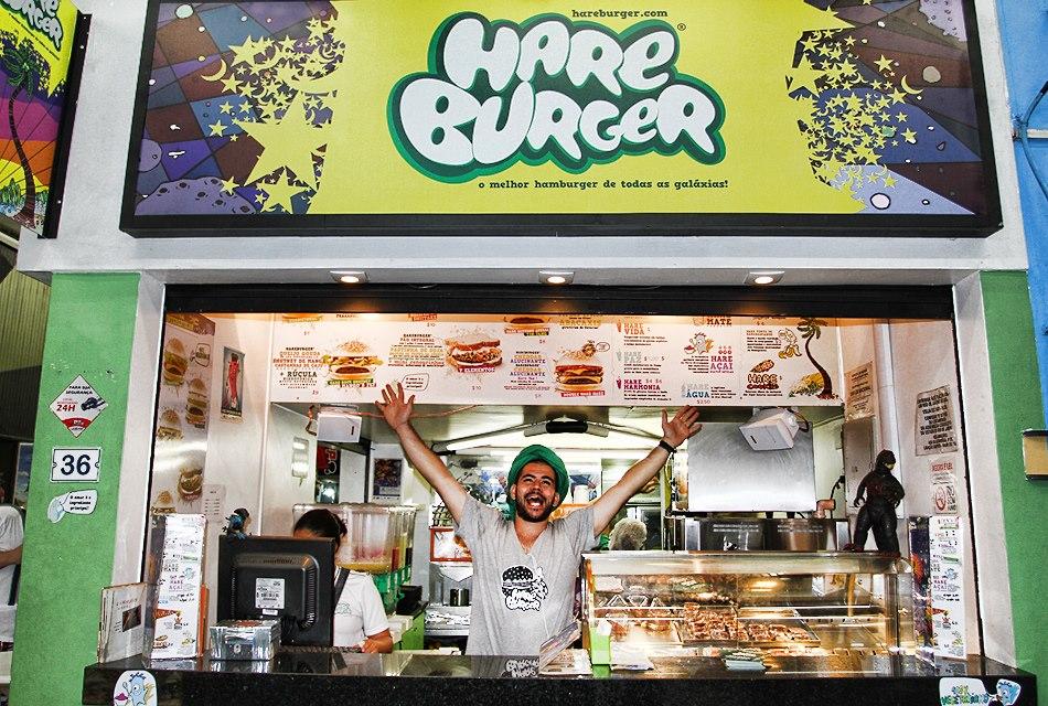 A loja do Hareburger no Arpoador