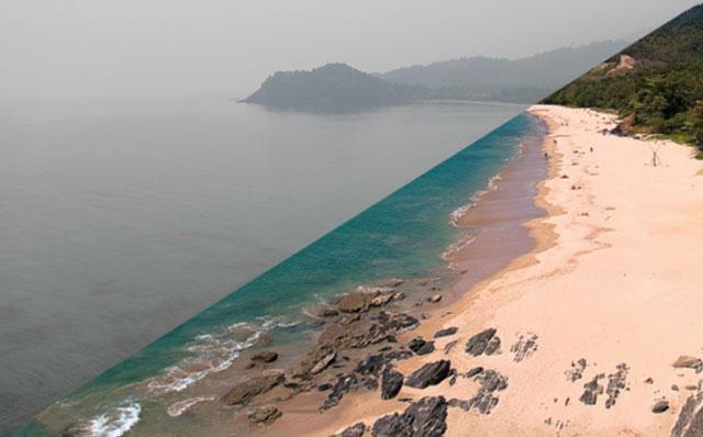 Expectativa x realidade: a neblina criminosa cobre a praia de Koh Lanta