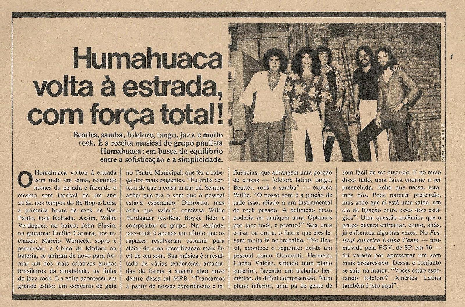 Matéria sobre o Humahuaca
