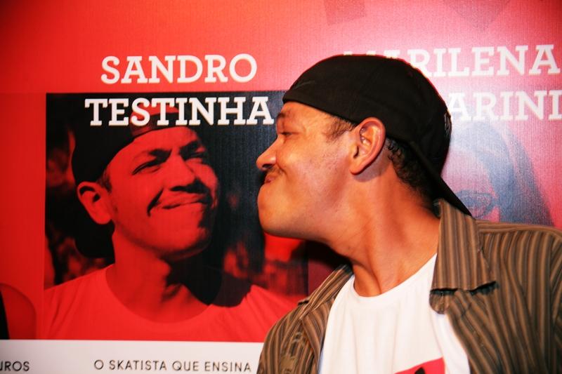 O skatista Sandro Testinha, um dos homenageados de 2013