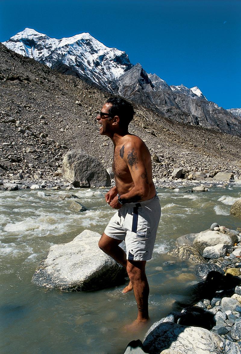 Nascente do rio Ganges, 2005