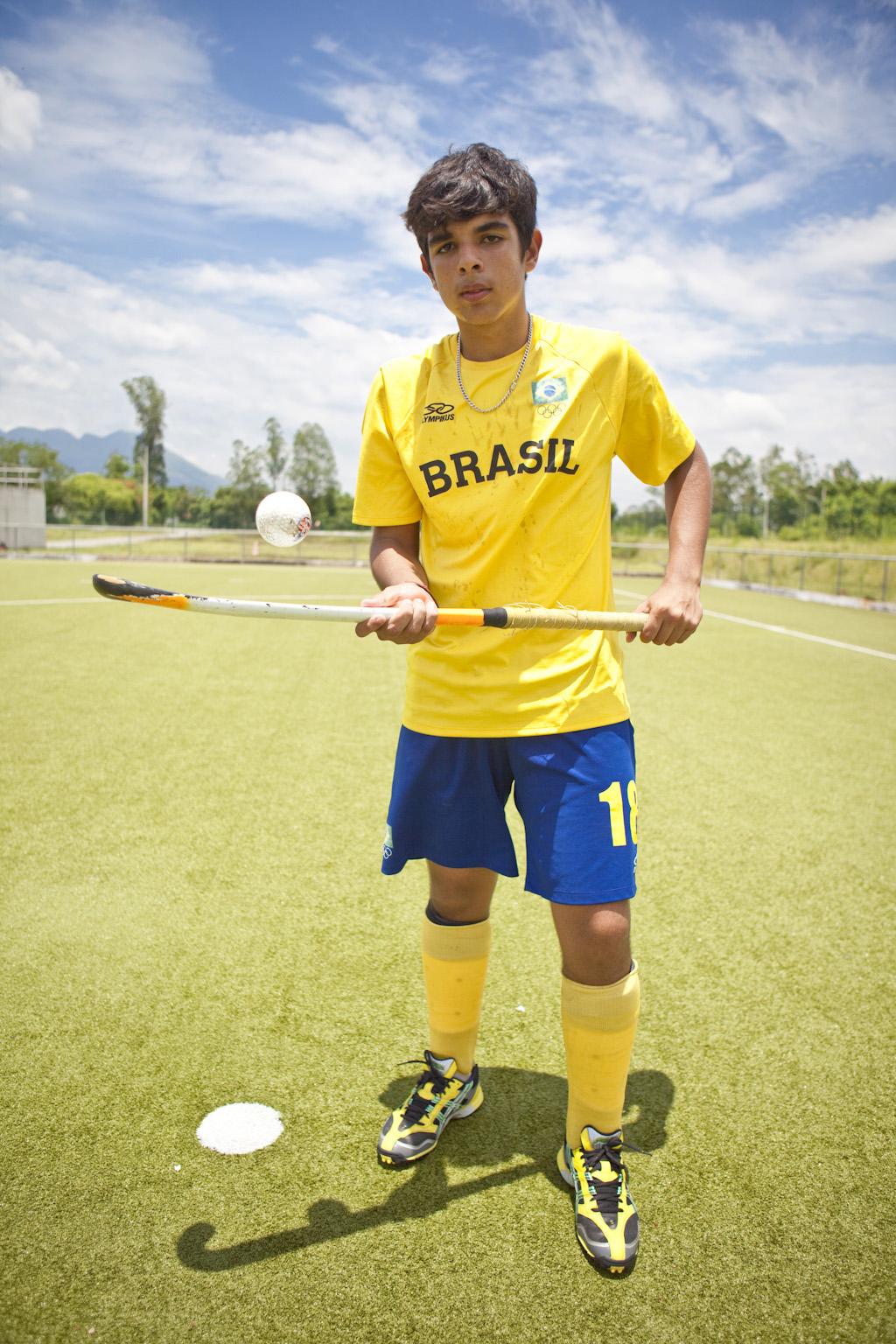 Mateus Rerreira, atleta do hockey na grama