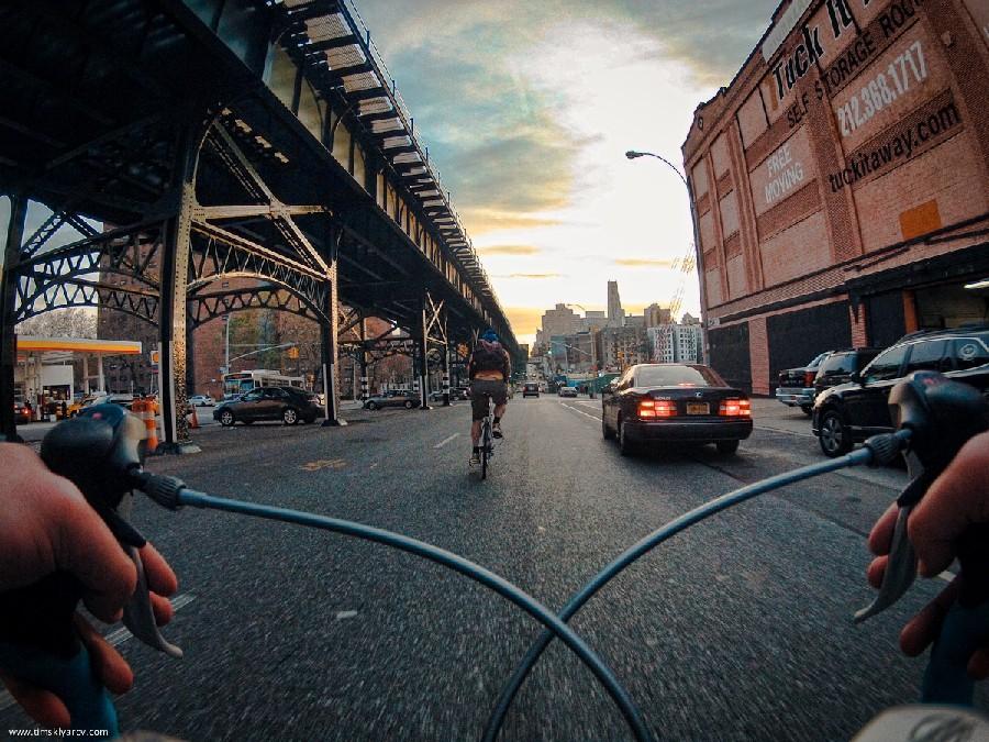 Nova York através dos olhos de uma bicicleta