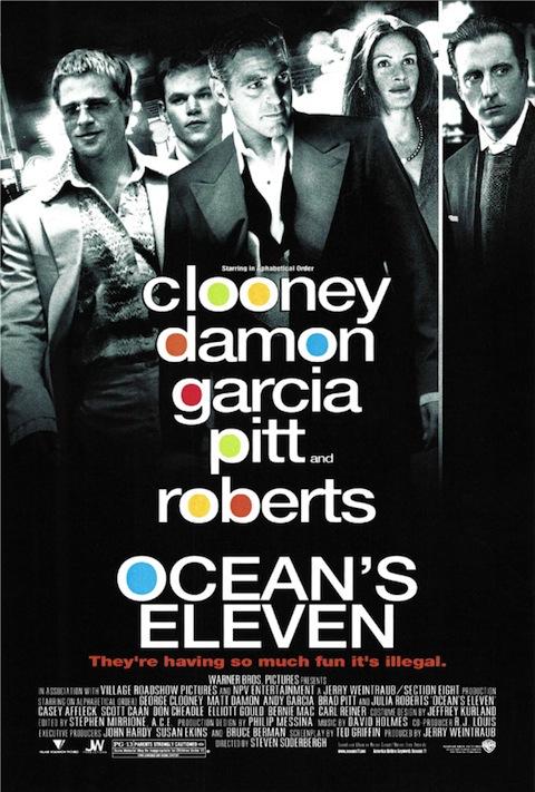 Poster rejeitado de Onze Homens e um Segredo (2001)