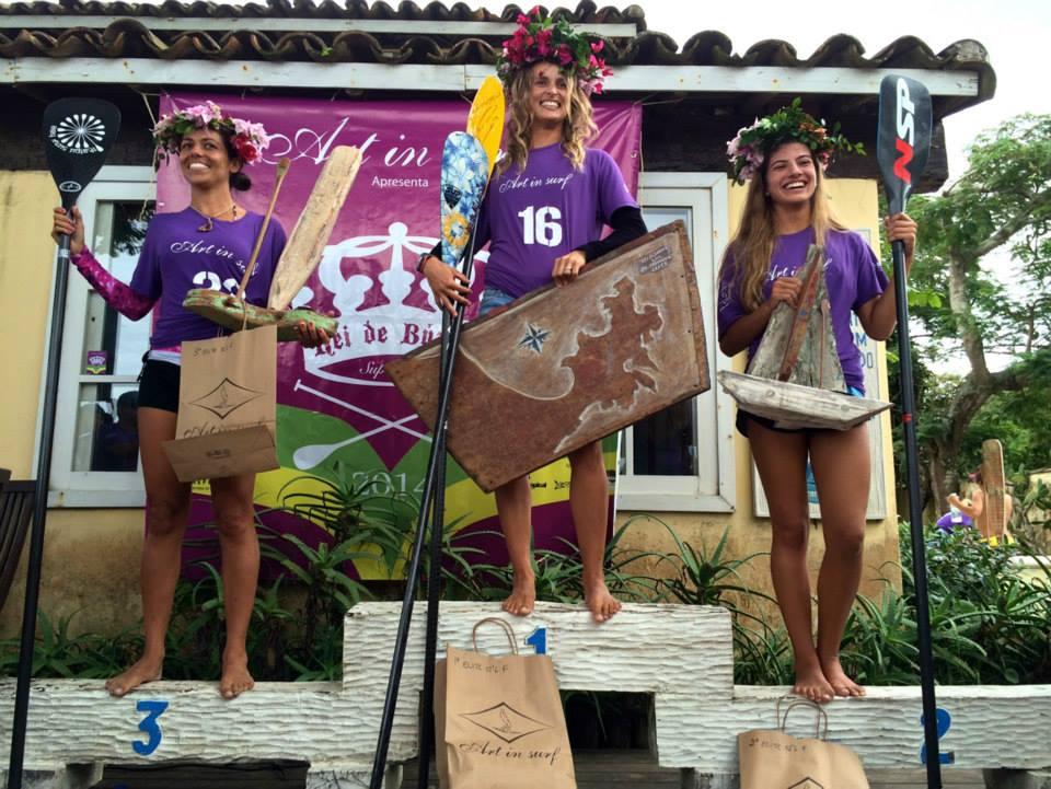 Podium Feminino: 1o Lena Guimarães; 2o Ariani Theofilo; 3o Luiza Perin