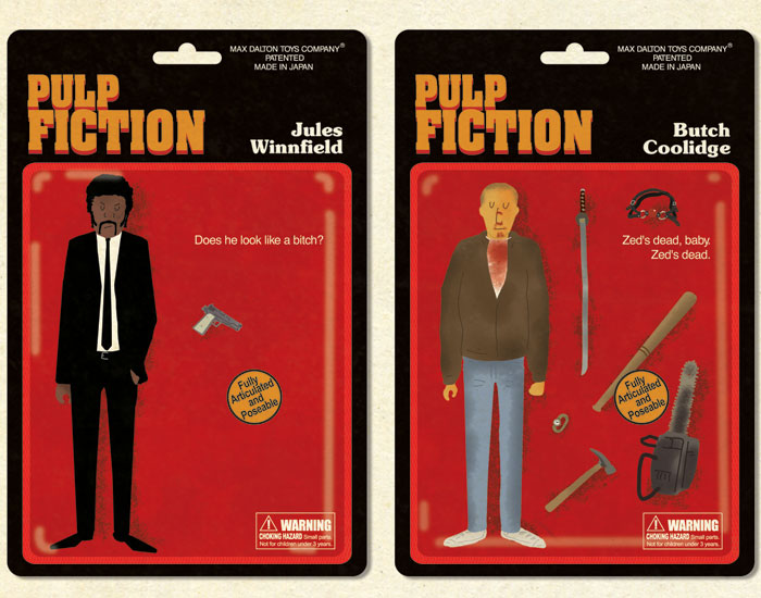 Bonequinhos do Pulp Fiction