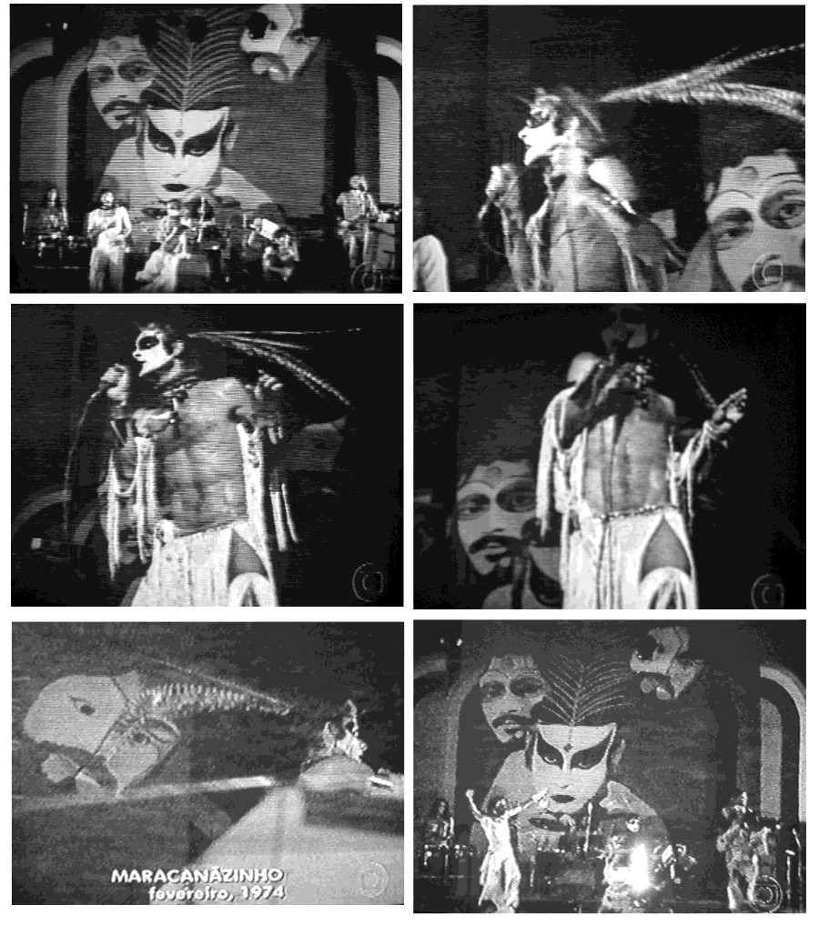 Alguns quadros do show no Maracanãzinho em 1974