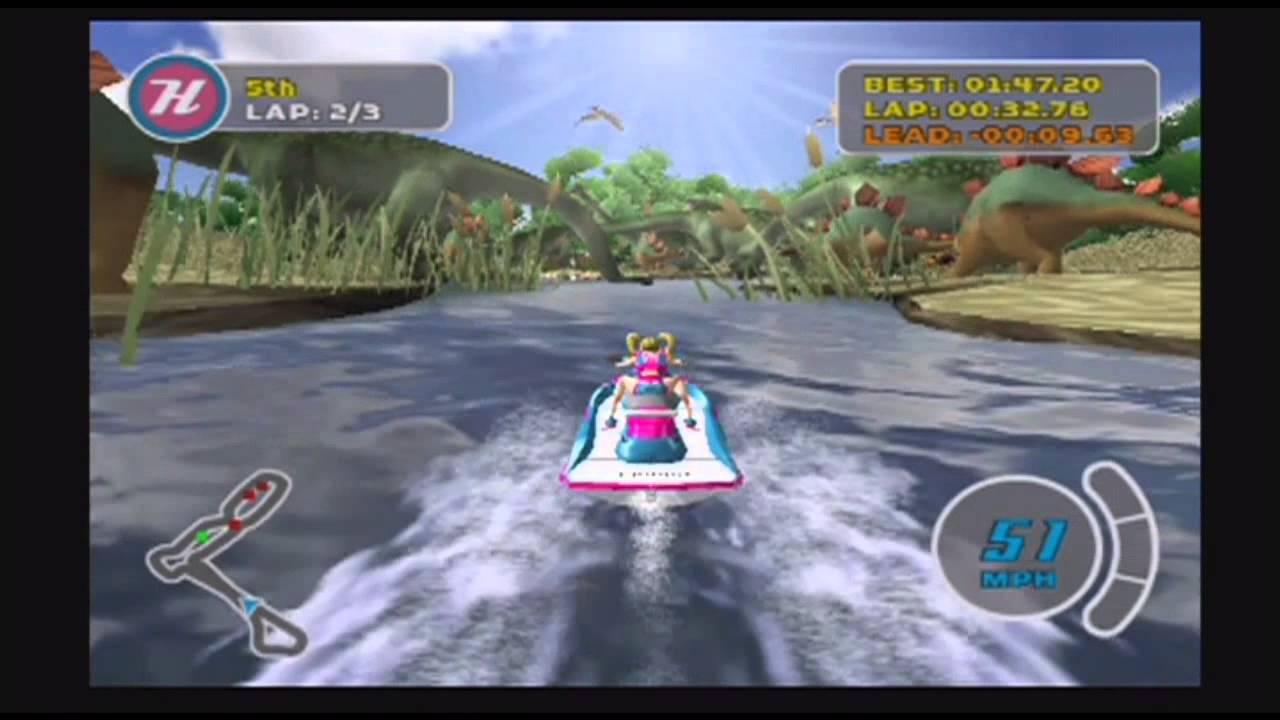 Splashdown - O jogo traz para o console um dos simuladores mais legais dos fliperamas, mas sem seu grande chamariz. Mesmo que seja só no controle, pilotar um jet ski numa corrida aquática pode ser divertido. As pistas, como de costume, espalham-se em vários lugares do mundo. Os trajetos são cheios de rampas e, além de chegar em primeiro, fazer algumas manobras aéreas é um objetivo.