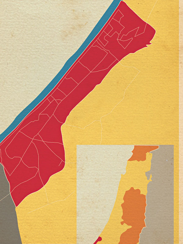 O mapa da morte e do surf em Gaza