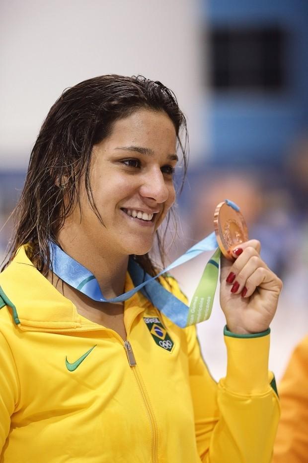 Com o bronze pelos 400 metros medley no Pan-Americano de 2015