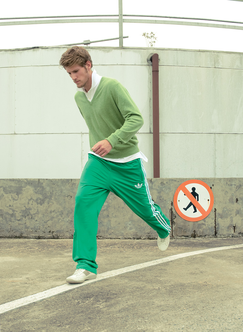Camisa polo Ralph Loren preço sob consulta + malha Ballantyne acervo pessoal + calça Adidas R$ 169,90 + tênis Prada preço sob consulta