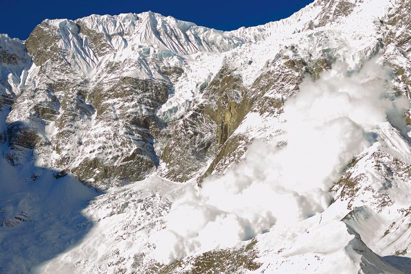 Uma bela avalanche, uma rotina na vida do fotógrafo