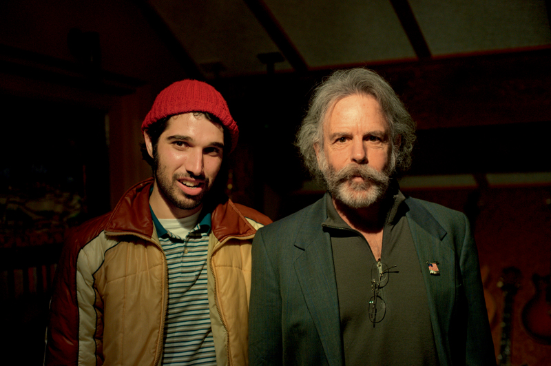 Bruno com Bob Weir, do Grateful Dead