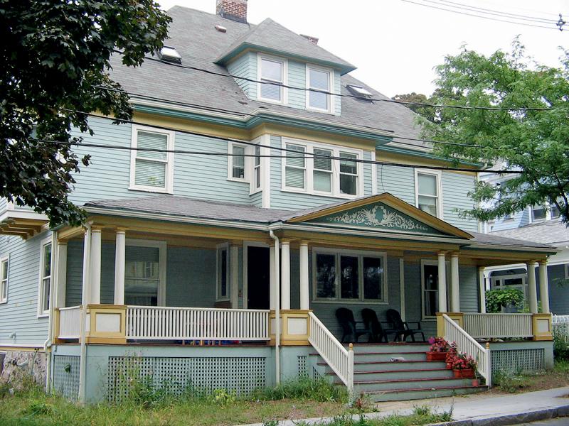 Casa da família norte-americana, na qual Raquel mora e trabalha