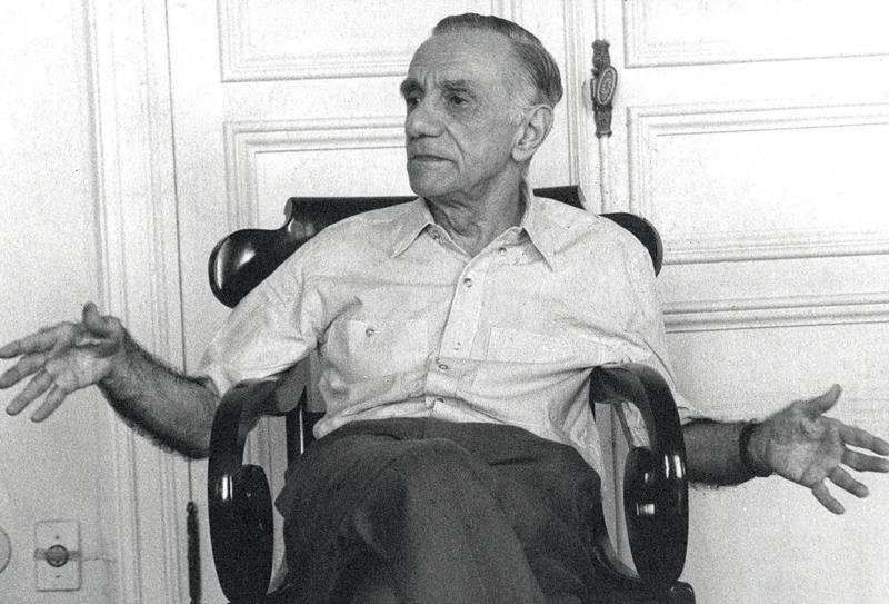 Outro escritor retratado para o JT pelo então rapazote: João Cabral de Melo Neto (1988)