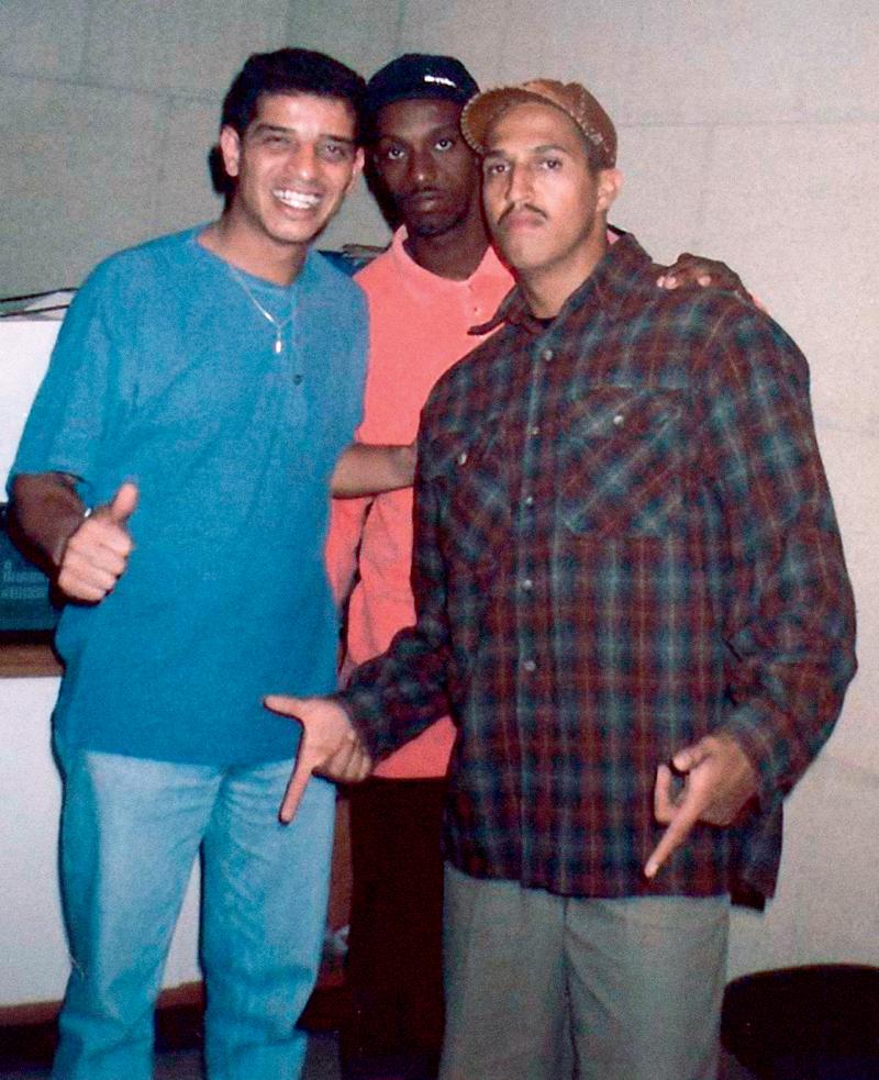 Nuno com Ice Blue e Mano Brown