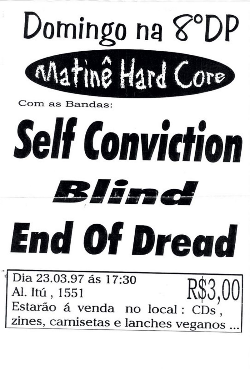 flyers que, junto com os fanzines, circulavam pelo correio ou de mão em mão