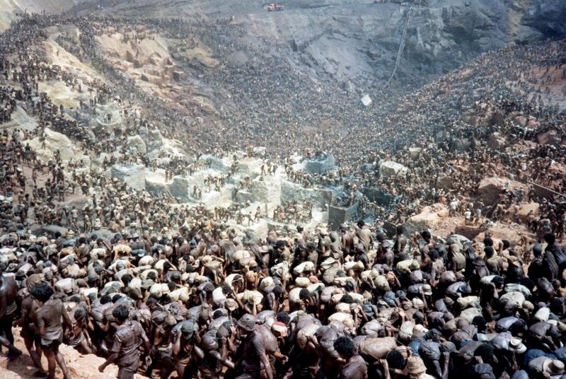 """Imagem do """"formigueiro humano"""" no apogeu de Serra, em 81/82"""