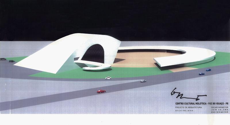 Holoteca, projetada por Oscar Niemeyer