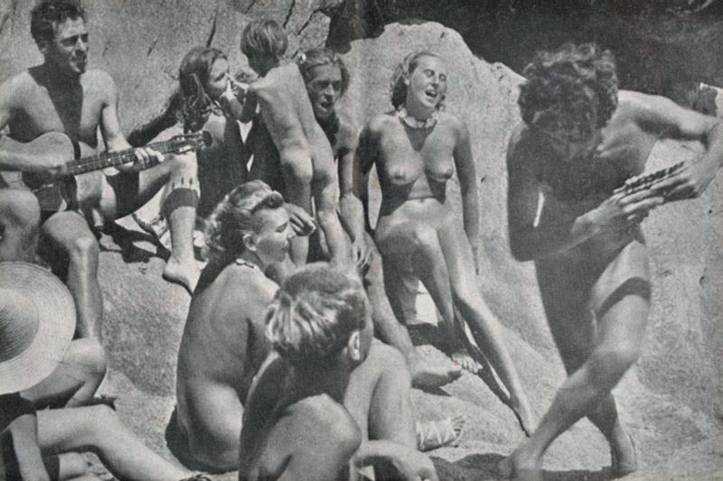 Uma das cenas idílicas das revistas da época