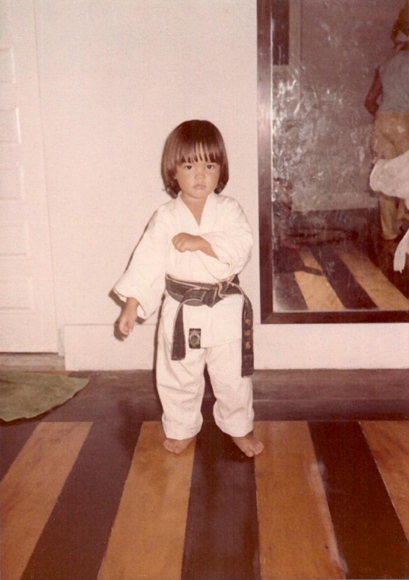 Reflexo do pai: Lyoto experimenta a faixa preta de Yoshizo