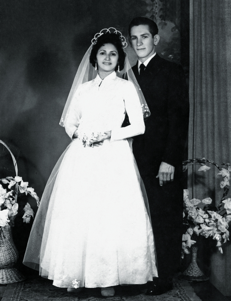 José Floriano Bortolotto e Maria Oliveira Bortolotto, seus pais no dia do casamento