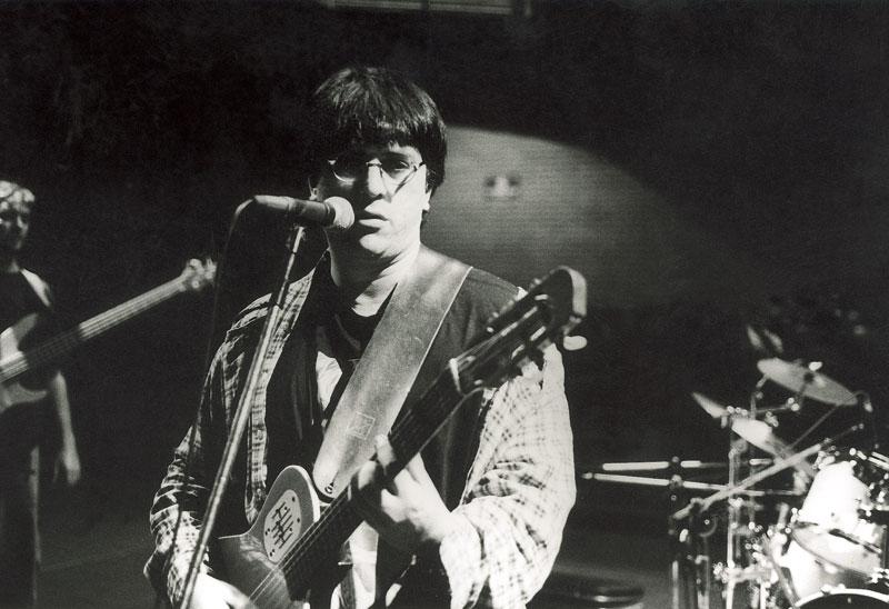 Como músico no Centro Cultural São Paulo, em 2000