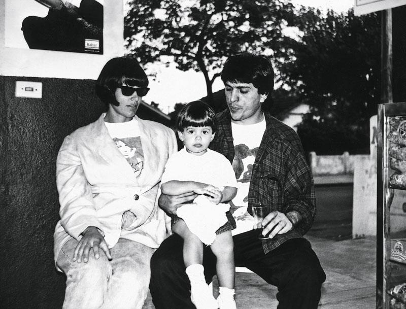 1993, com a ex-mulher Christine e a filha Isabela