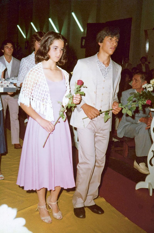 Em Apucarana, 1979, durante sua formatura do segundo grau