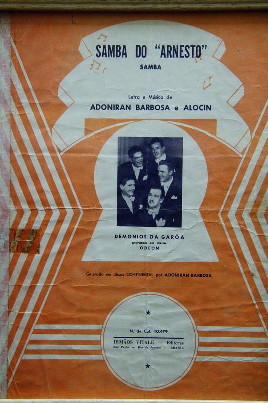 Partitura do Samba do Arnesto
