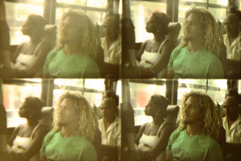 No ônibus, no Rio de Janeiro