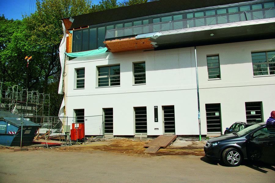 A sede em construção