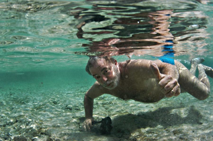 Lula durante mergulho em Fernando de Noronha no ano passado