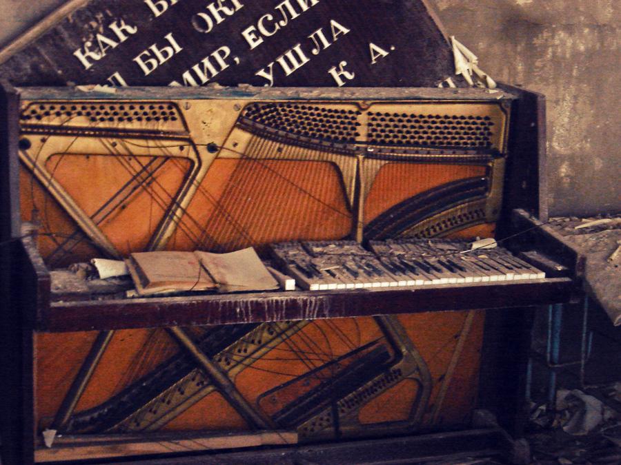 O piano da escola