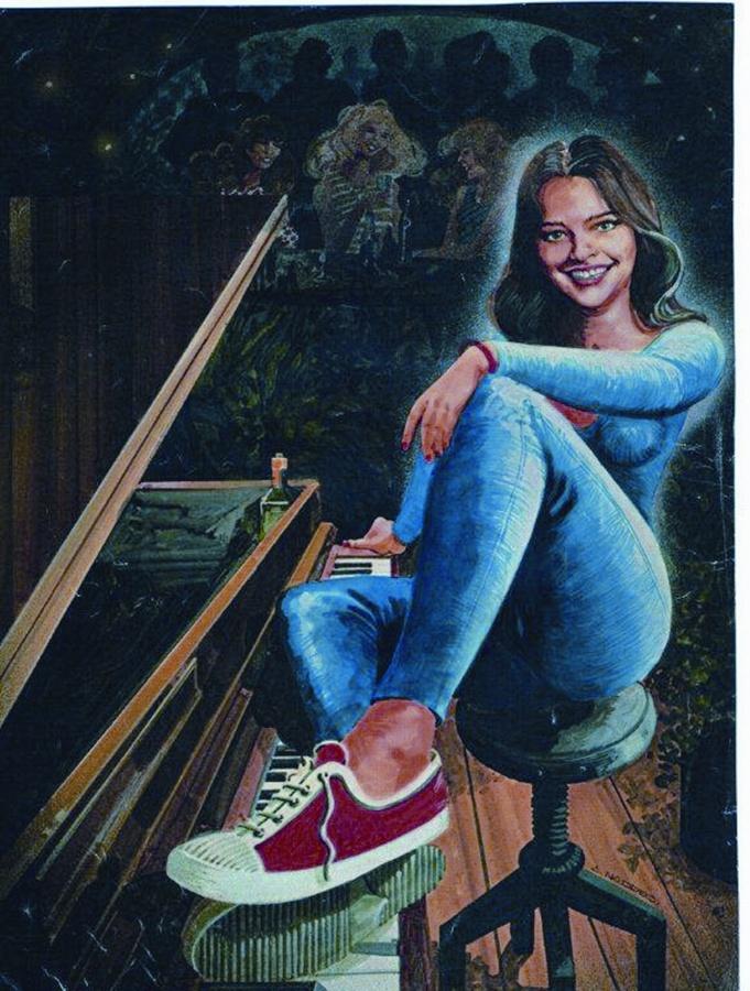 Desenho inspirado em foto de divulgação de 1989 para entrevista a Ruy Castro