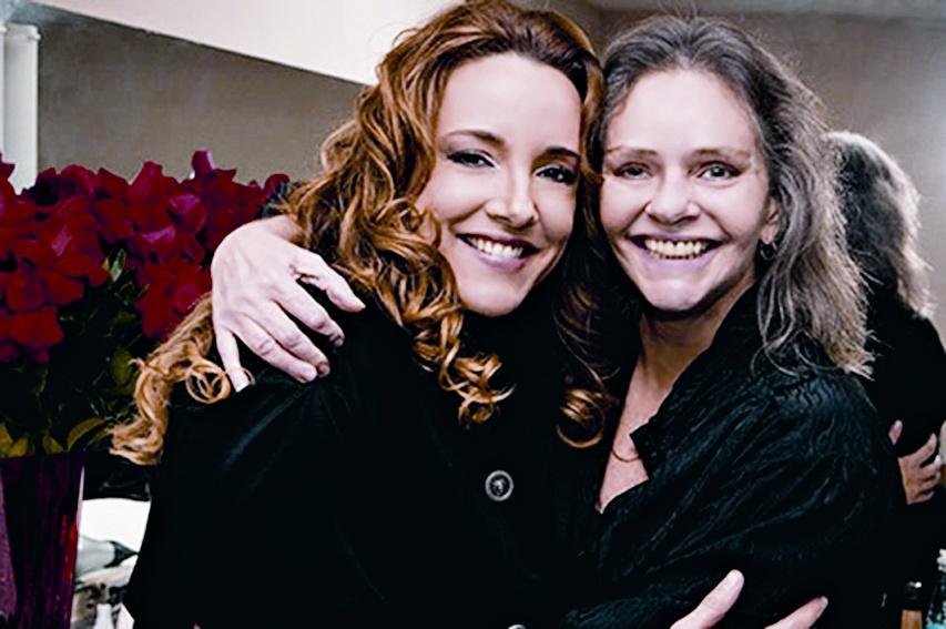 Com a cantora Ana Carolina no HSBC em São Paulo, em 2008