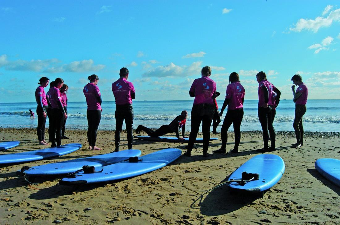 Os alunos cada vez mais frequentes na Surf Steps School