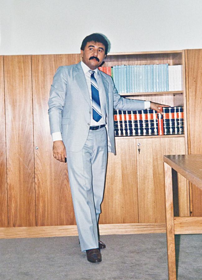 No dia da posse como juiz federal, há 24 anos