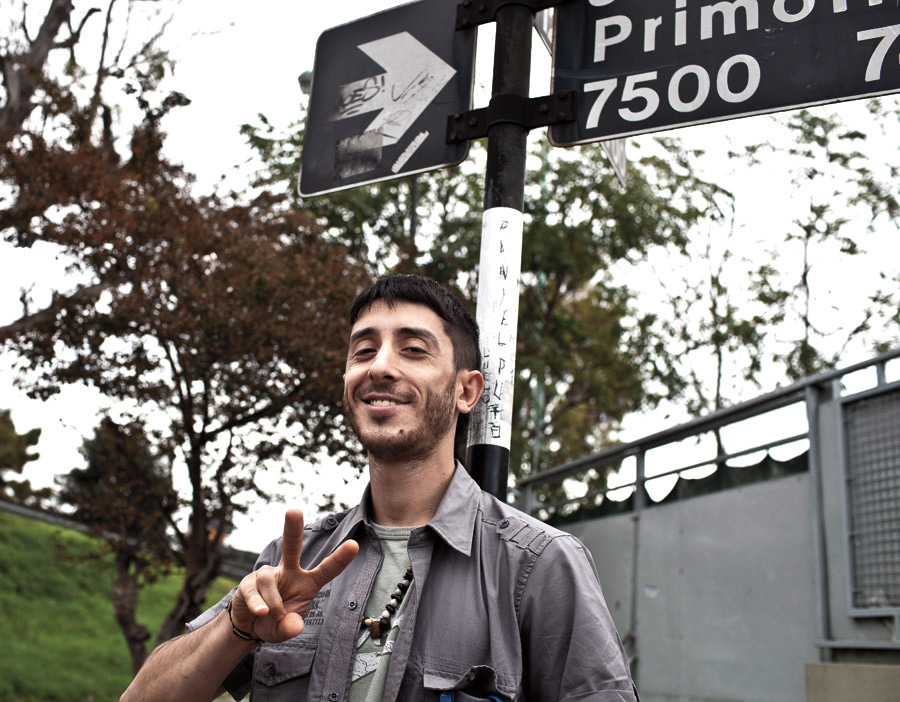O otimista Matias Faray gozando de liberdade