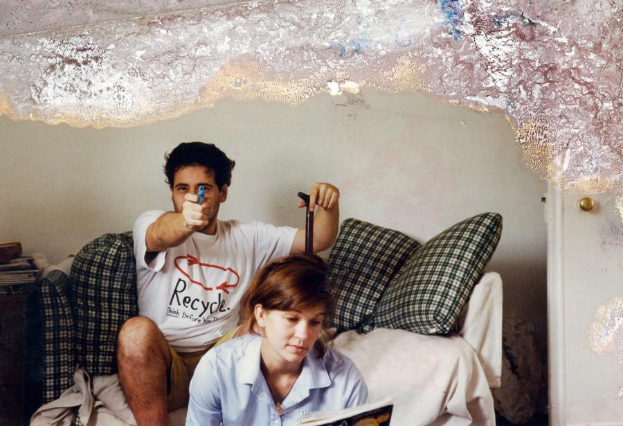 Vitor e sua amiga Karin em Londres em 1997