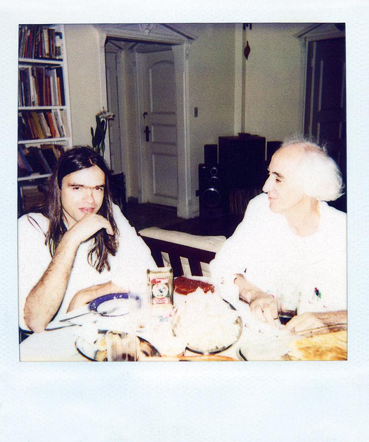 Com o namorado Marcelo Drummond