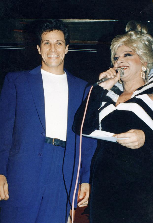 Miss Bá com Edson Celulari