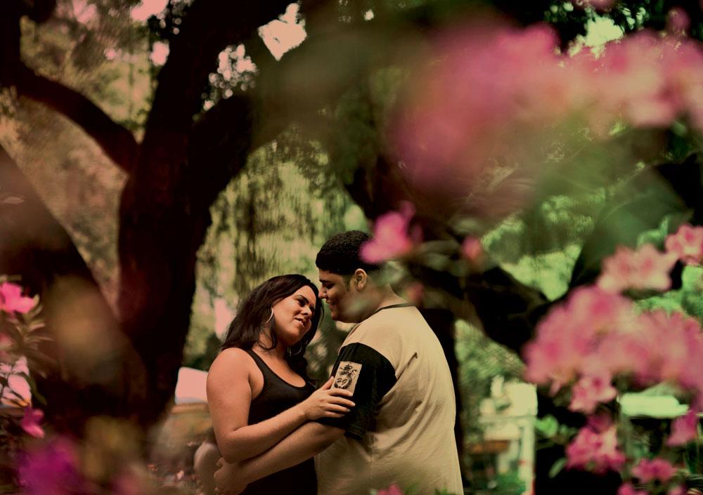 Wesley com Isabelle, com quem teve um romance recente