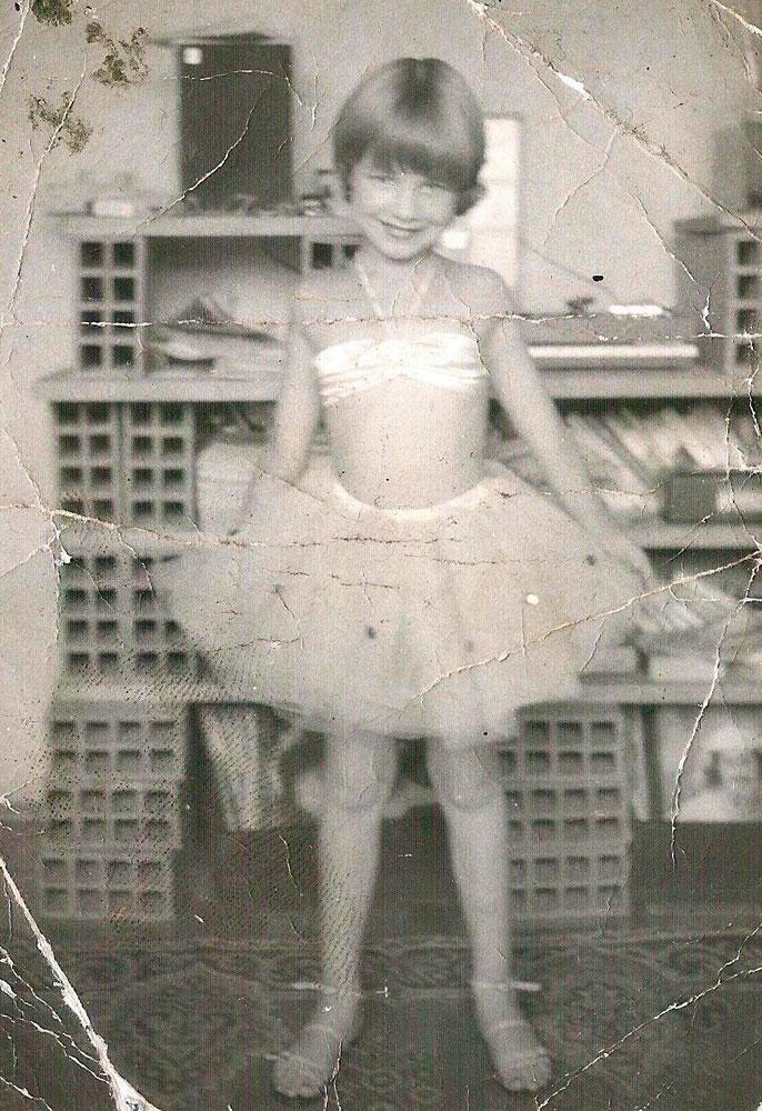 Em 1983, pronta para uma apresentação de dança