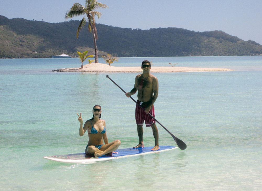 lua de mel no Taiti com o marido, o surfista de ondas grandes Pedro Scooby