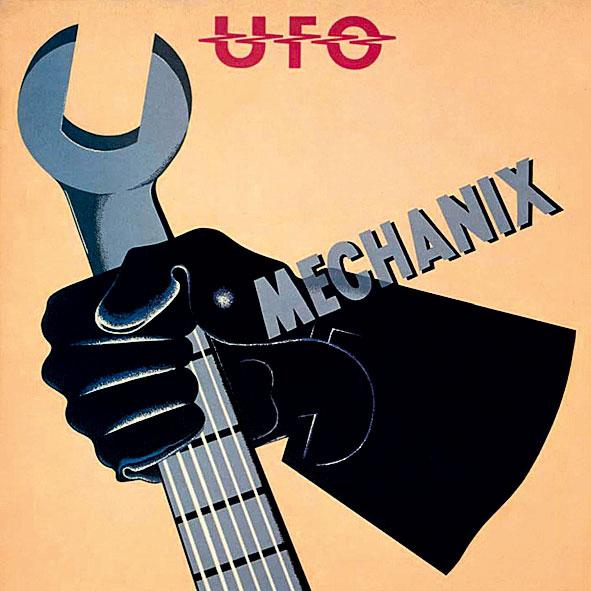 """09 O pop e nem tão """"hard"""" rock álbum Mechanix é seguramente o melhor da década menos produtiva do UFO"""